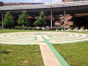 The labyrinth at the Georgetown Waterfront Park