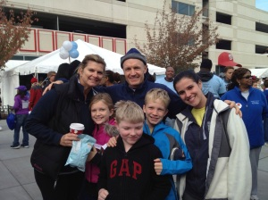 Lisa and her family at the 2013 Heart Walk at Nationals Stadium