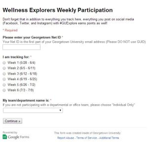 Tracking: Wellness Explorers Challenge | GUWellness